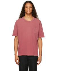 VISVIM Red Jumbo Crash T Shirt