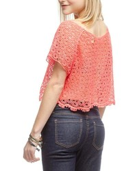 Ya los angeles crochet crop top medium 125785