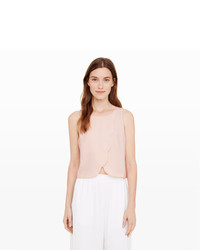 Club Monaco Genero Scalloped Crop Top