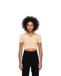 Live The Process Pink Seamless Crop Polo