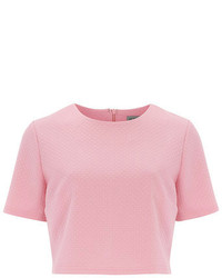 Alice & You Pink Textured Cropped Blouse