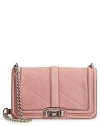 Rebecca Minkoff Love Nubuck Crossbody Bag Pink