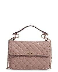Valentino Medium Rockstud Spike Crossbody Bag Coral