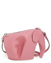 Loewe Mini Elephant Crossbody Bag Black