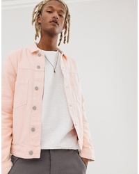 ASOS DESIGN Denim Jacket In Pink