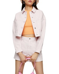 Topshop Organic Cotton Crop Denim Jacket