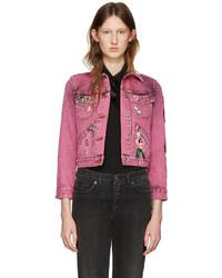 Marc Jacobs Pink Shrunken Denim Jacket