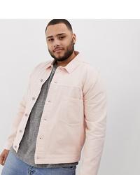 ASOS DESIGN Plus Denim Jacket In Pink