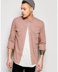 Pink Denim Shirt