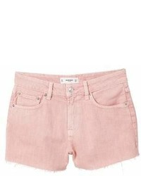 Mango Frayed Denim Shorts