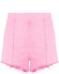 MSGM High Waisted Denim Short Shorts