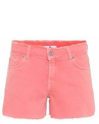 7 For All Mankind Mid Rise Denim Shorts