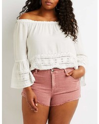 Charlotte Russe Plus Size Refuge Shortie Denim Shorts