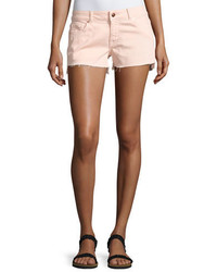 Premium denim renee cutoff step hem shorts pink medium 3768071