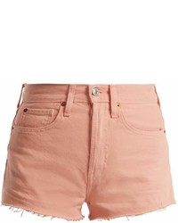 Redone Originals The Short Raw Hem Denim Shorts