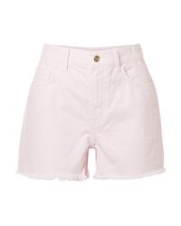 Current/Elliott The Aficionado Frayed Denim Shorts