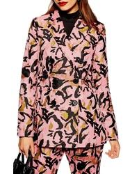 Topshop Animal Jacquard Jacket