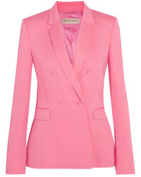 Double breasted crepe blazer bubblegum medium 5172985