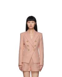 Balmain Pink 6 Button Blazer