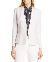 Tailored by Rebecca Taylor Textured Cotton Blend Suit Jacket