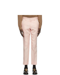 Burberry Pink Check Trousers