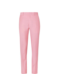 Alexander McQueen Pink Slim Fit Wool And Mohair Blend Suit Trousers