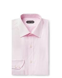 Tom Ford Light Pink Slim Fit Cotton Poplin Shirt