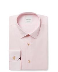 Paul Smith Light Pink Soho Slim Fit Cotton Poplin Shirt