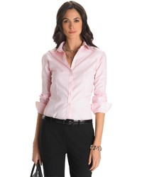 Non iron fitted dress shirt medium 186596