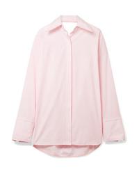 Helmut Lang Oversized Cutout Cotton Poplin Shirt