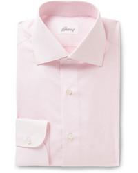 Brioni Pink Cotton Shirt