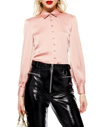 Topshop Rouleau Button Shirt