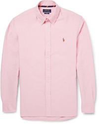 Polo Ralph Lauren Slim Fit Button Down Collar Cotton Oxford Shirt