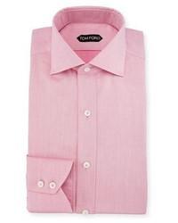 Slim fit iridescent barrel cuff dress shirt pink medium 749398