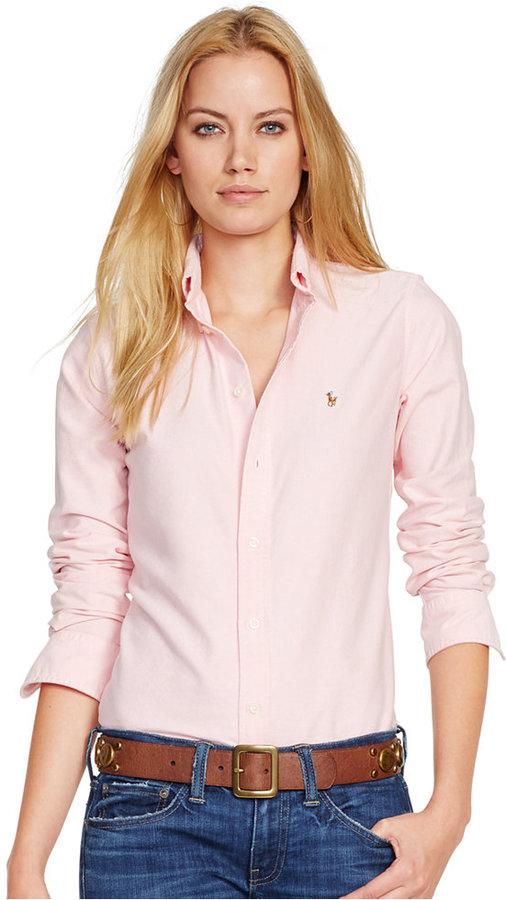 a1987c58ffa ... Polo Ralph Lauren Slim Fit Long Sleeve Oxford Shirt ...