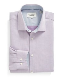 Ted Baker Big Tall London Audon Trim Fit Solid Dress Shirt