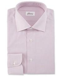 Textured grid dress shirt pink medium 1124939