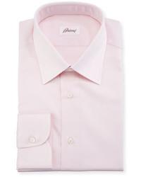 Brioni Textured Solid Cotton Dress Shirt