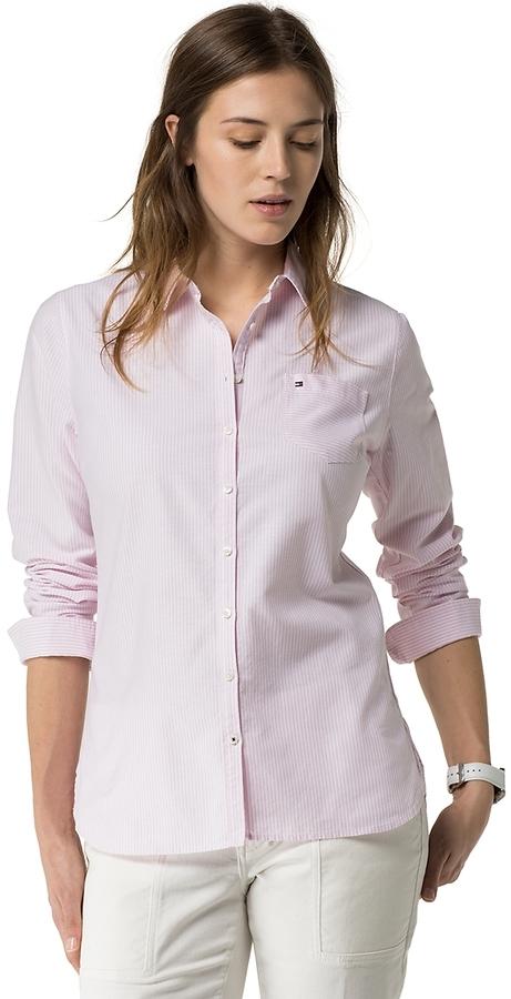 f3e54ee9 Tommy Hilfiger Stripe Oxford Shirt, $79   Tommy Hilfiger   Lookastic.com