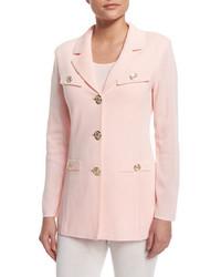 Misook Dressed Up Button Front Jacket Petite