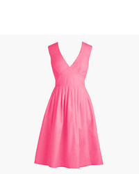 J.Crew Petite V Neck A Line Dress In Faille