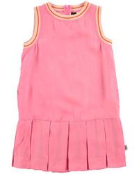 Molo Sleeveless Tipped Pleated Dress Carnation Pink Size 3 14