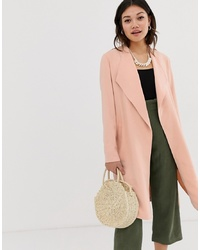 Miss Selfridge Duster Coat In Pink