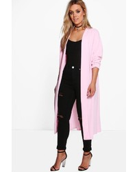 Boohoo Plus Bella Waterfall Duster Coat