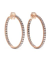 Sylva & Cie 14 Karat Gold Diamond Hoop Earrings