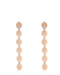 Gucci Embellished Flower Drop Earrings