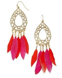 BaubleBar Feather Drop Earrings