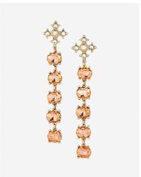 Express Five Stone Linear Drop Earrings