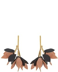 Marni Flower Drop Leather Earrings