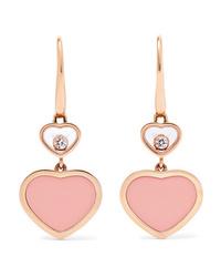 Chopard Happy Hearts 18 Karat Gold Diamond And Stone Earrings